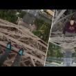 calano Torre Eiffel: a 300 metri da terra senza protezioni3