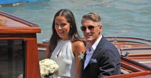 Guarda la versione ingrandita di YOUTUBE Ana Ivanovic e Bastian Schweinsteiger matrimonio a Venezia (Foto Ansa)