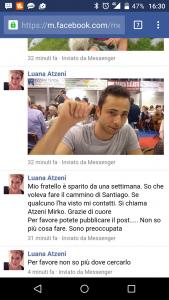 Mirko Atzeni sparisce durante cammino Santiago, appello della sorella