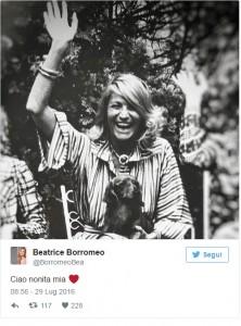 """Marta Marzotto morta, Beatrice Borromeo: """"Ciao nonita"""""""