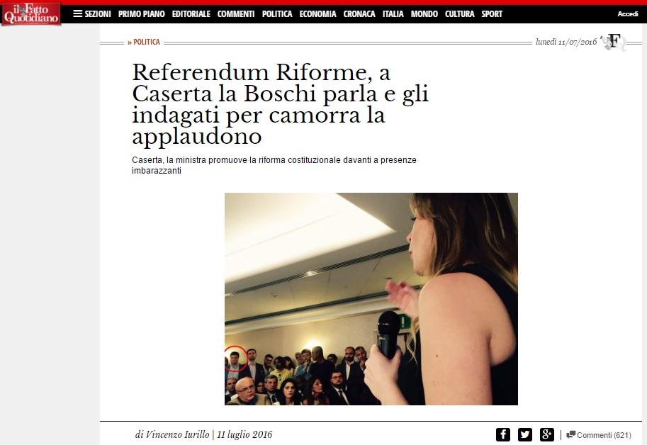 Referendum Riforme, Boschi parla e indagati per camorra applaudono 01