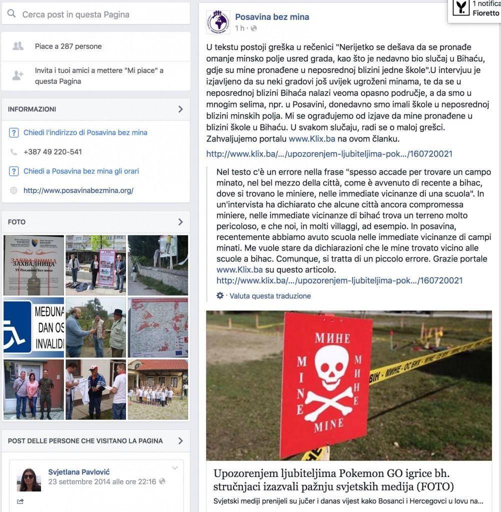 Pokemon Go, allarme in Bosnia: attenzione ai campi minati