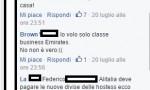 """Cannavacciuolo e Bastianich sul volo Ryanair. Insulti su Fb: """"Pezzenti"""""""