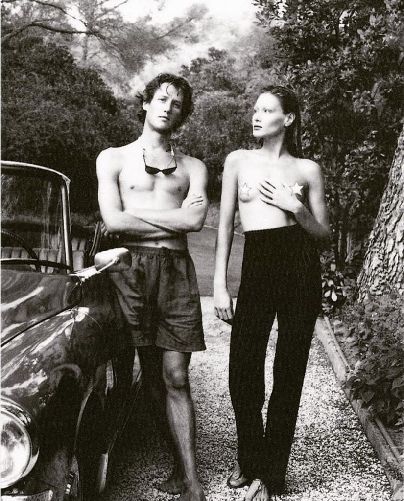 Carla Bruni su Instagram con sue foto  firmate Helmut Newton
