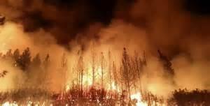 Gli incendi a Chios