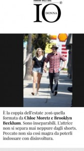 """Io Donna e gli shorts di Chloe Moretz: """"Non è magra"""" FOTO"""