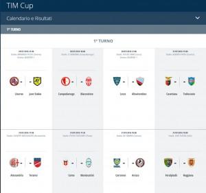 Guarda la versione ingrandita di Coppa Italia 2016-17, tabellone primo turno: orari e arbitri designati, dirette tv e streaming