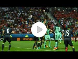 """Cristiano Ronaldo, colpo di testa """"perentoso"""": VIDEO gaffe telecronista Rai"""