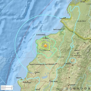 Terremoto Ecuador: forte scossa del 6,4 vicino Rosa Zarate