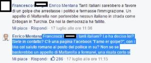 """Enrico Mentana risponde per le rime su Facebook: """"Famo er golpe?!"""""""