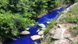 Guarda la versione ingrandita di Cambiago, il fiume è blu elettrico. Ma l'acqua