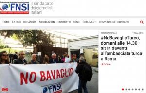 """Turchia, """"No Bavaglio"""" alla stampa: sit-in Fnsi davanti ambasciata turca"""