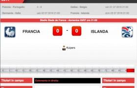 Francia-Islanda: diretta live quarti Euro 2016 su Blitz. Formazioni