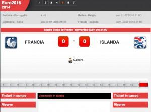 Guarda la versione ingrandita di Francia-Islanda: diretta live quarti Euro 2016 su Blitz con Sportal