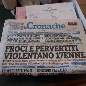 """Tommaso D'Angelo e il titolo: """"Ho scritto froci per difendere i gay"""""""