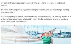 Eredità zero: ai parenti non resterà un soldo. Geraldine Rudge festeggia i 65 anni sopra le righe nel lusso più sfrenato