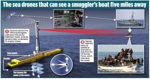 Guarda la versione ingrandita di Navi drone contro trafficanti di esseri umani: Gb ci prova