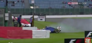 YOUTUBE Marcus Ericsson, incidente prove Gran Premio Silverstone