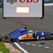 YOUTUBE Marcus Ericsson, incidente prove Gran Premio Silverstone5