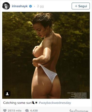 Irina Shayk provoca Instagram con QUESTA foto in bikini