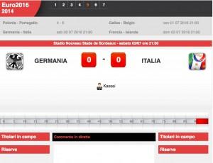 Italia-Germania: diretta live quarti Euro 2016 su Blitz. Formazioni