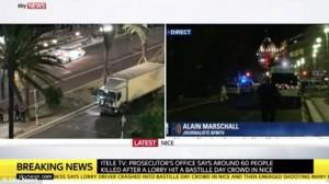 """Guarda la versione ingrandita di VIDEO YOUTUBE Attentato Nizza """"performance vintage Isis"""": gaffe della reporter"""