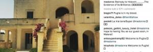 Guarda la versione ingrandita di Madonna posta foto dalla Puglia: caccia alla star in Italia