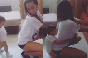 YOUTUBE Mamma fa twerking con il figlio piccolo: VIDEO scandalo