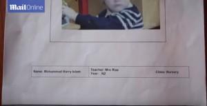 "YOUTUBE ""Mohammad Harry Islam"": scuola cambia nome a bimbo 3 anni"