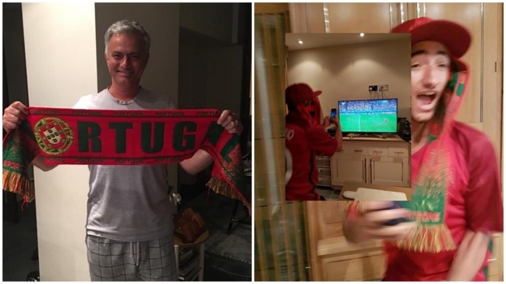 Josè Mourinho in pigiama festeggia Portogallo campione d'Europa FOTO4