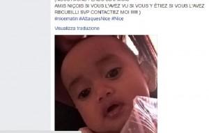 Attentato Nizza, neonato salvato grazie a Facebook FOTO