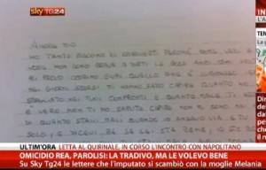 Guarda la versione ingrandita di Parolisi, dalle lettere emerge una persona...