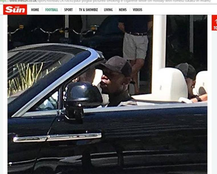 Paul Pogba in vacanza: auto, basket e... sigaretta FOTO 3