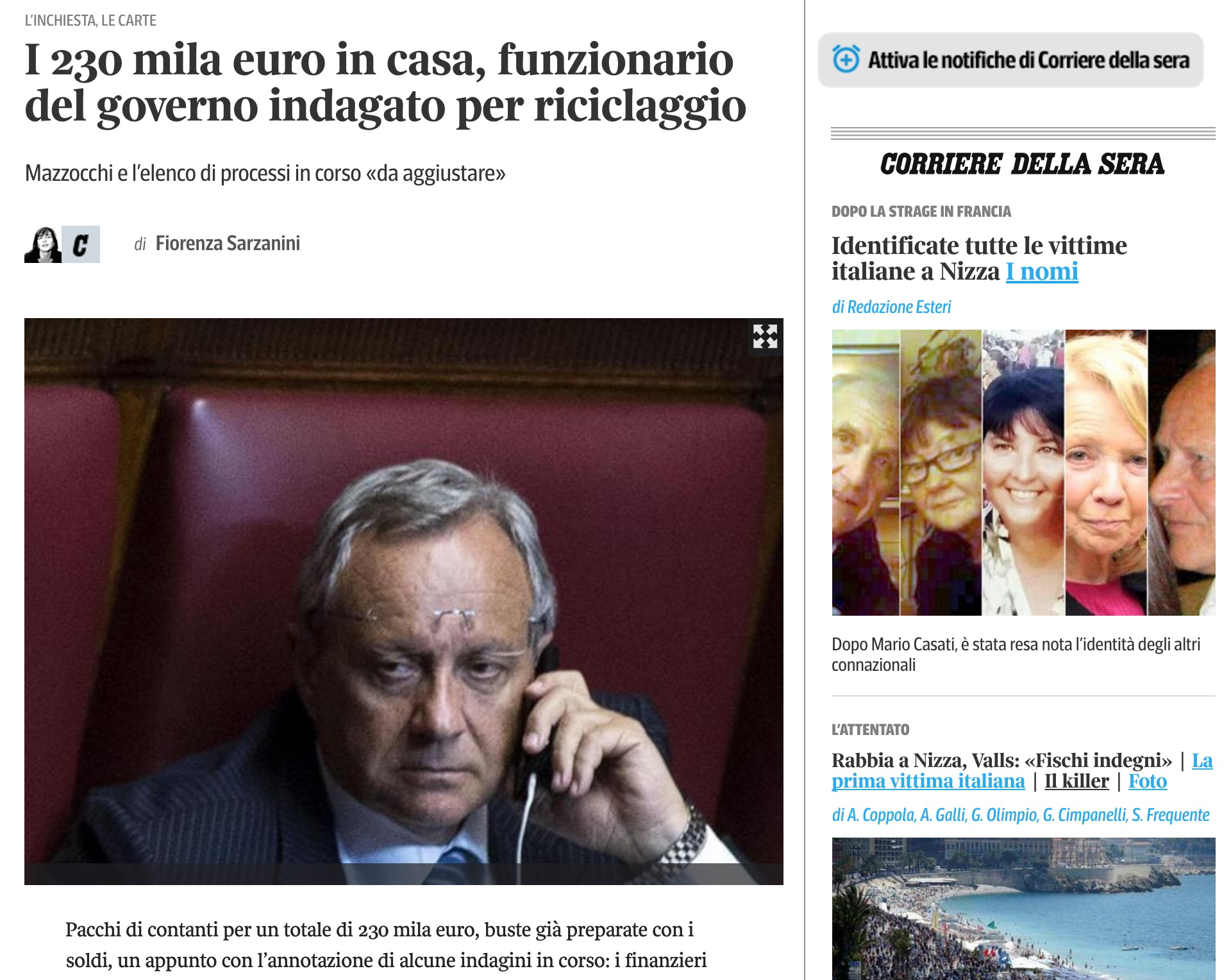 Renato Mazzocchi Funzionario Di Renzi Accusato Di Riciclaggio