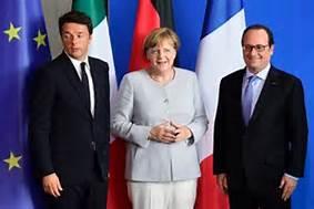 Renzi, Merkel e Hollande