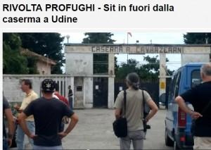 """Profughi in rivolta a Udine: rissa e feriti, chiedono """"condizioni migliori"""""""