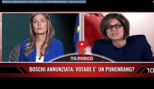 """Sabina Guzzanti su La7: """"Tg Porco"""" prima di Piazzapulita VIDEO"""