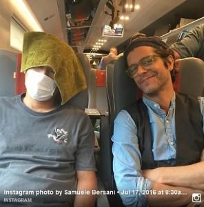 Samuele Bersani e la foto pubblicata su Facebook