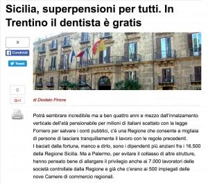 """Sicilia Trentino Valle D'Aosta Sardegna: dalle pensioni al dentista, gli sprechi delle Regioni """"speciali"""""""