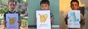"""Siria, appello dei bimbi: """"Anziché i Pokemon venite a salvare noi"""""""