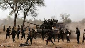 Combattenti nel Sud Sudan