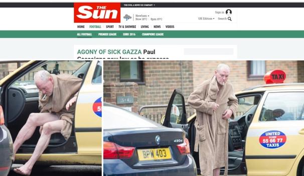 Paul Gascogne ubriaco: FOTO choc all'uscita dal taxi2