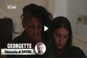 Guarda la versione ingrandita di Temptation Island, Georgette piange per Davide, che ha detto...