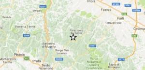 Guarda la versione ingrandita di Terremoto tra Firenze e Bologna: epicentro in Toscana