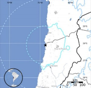 Guarda la versione ingrandita di Terremoto Cile: scossa di magnitudo 6.2 sulla costa
