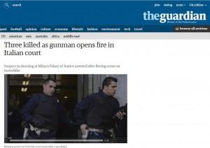 Guarda la versione ingrandita di The Guardian, perdita di 173 milioni nonostante tagli e licenziamenti