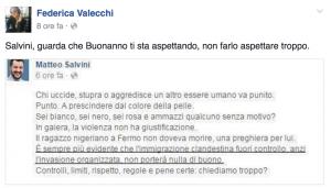 """""""Salvini, Buonanno ti sta aspettando"""": il post Facebook dell'attivista Sel"""