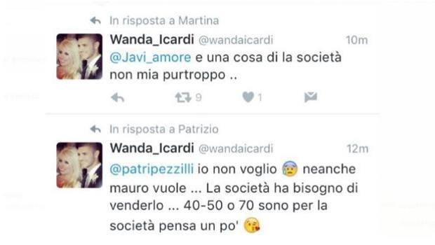 Wanda Nara sfonda Inter su Twitter: poi cancella tutto... FOTO