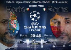 Porto-Roma diretta. Formazioni ufficiali-video gol highlights Champions League