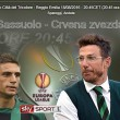 Europa League, Sassuolo-Crvena zvezda (elaborazione)